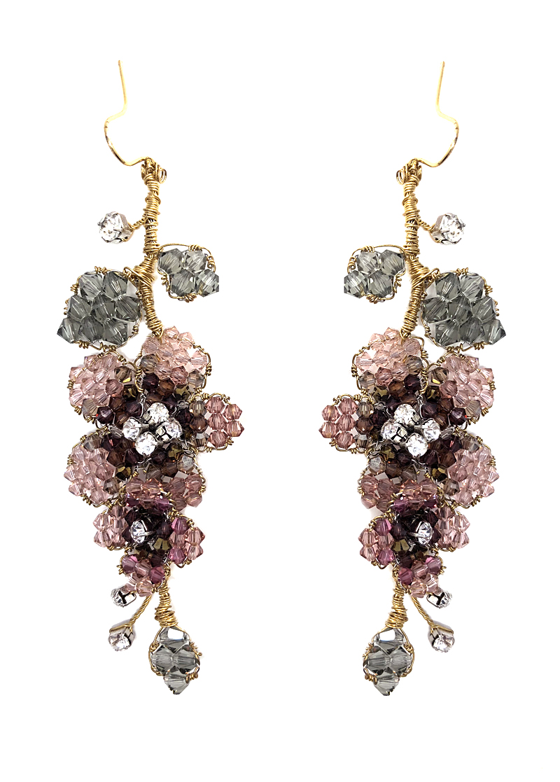 187ba8161cedc8 Rose & Black Diamond Hanging Earring (SM) – Couture Costume & Fine ...